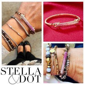 Stella & Dot Rebel Pink Ombré Swarovski Bracelet